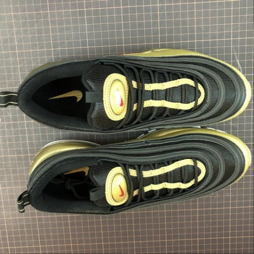Women's Nike Air Max 97 Black Varsity Red Metallic Golden White
