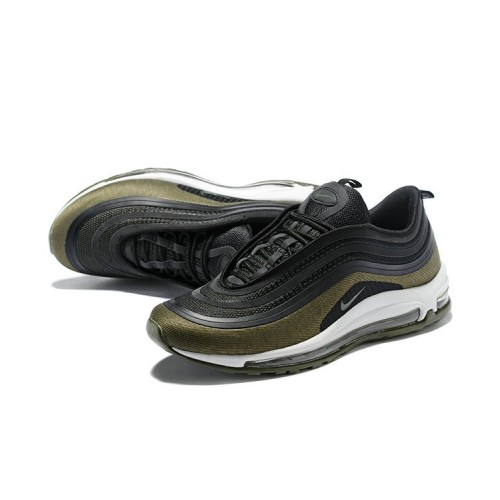 Men's Nike Air Maxs 97 Ultra 17 SE Flyknit Army Green Black