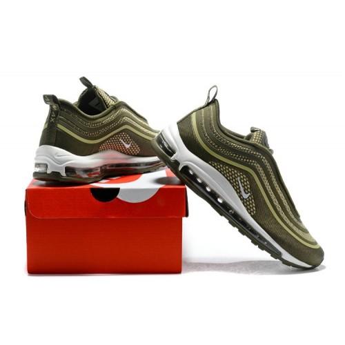 Men's Nike Air Maxs 97 Ultra 17 SE Flyknit Army Green White
