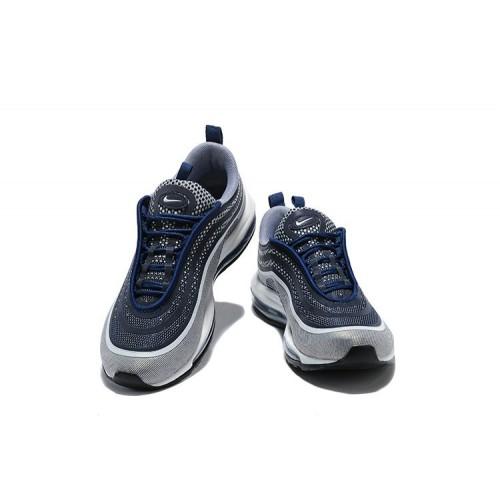 Men's Nike Air Maxs 97 Ultra 17 SE Flyknit Grey Blue White