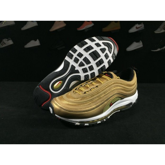 Women's Nike Air Max 97 GOLD RED WHITE BLACK