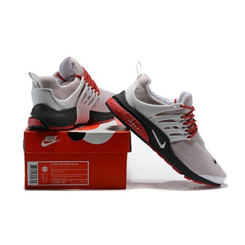 Men's 2018 Nike Air Presto BR QS Grey Red Black Sale