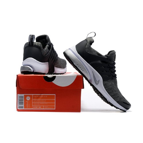 Men's 2018 Nike Air Presto BR QS White Grey Black Sale