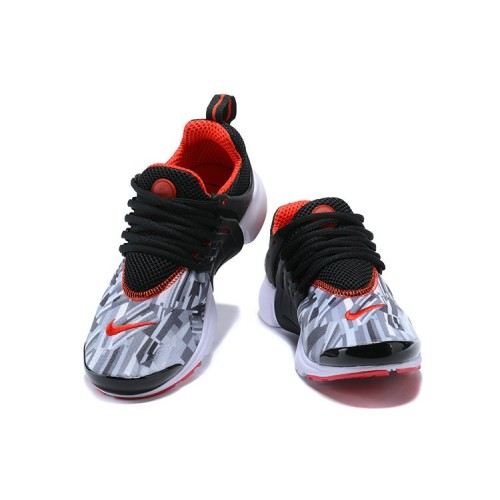 Women's 2018 Nike Air Presto x Nike Air Presto Grey Black Fire Red