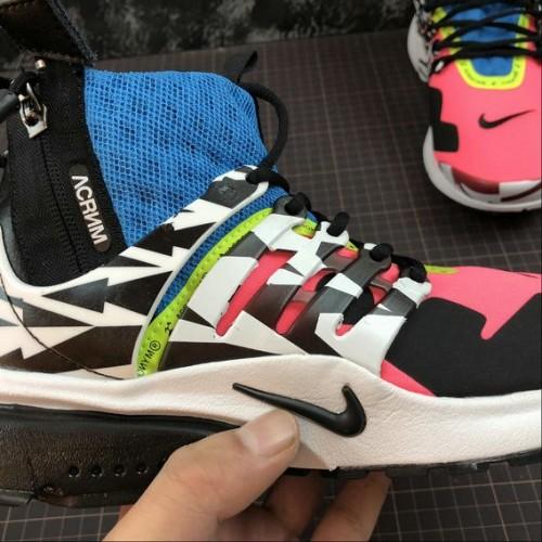 Women's Nike Air Presto Mid ACRONYM AH7832-600 Racer Pink Black