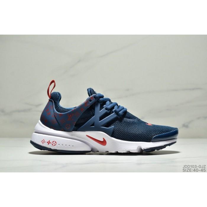Men's Nike Air Presto Flyknit Ultra Navy Blue Gym Red