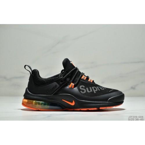Women's Nike Air Presto Supreme Black Orange Colorful