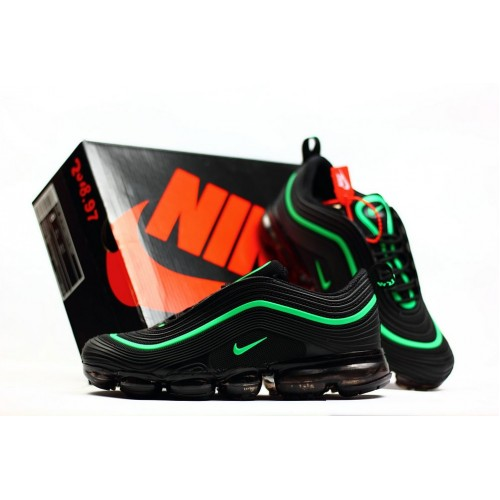Men's 2018 New Arrival Nike Air VaporMax 97 Apple Green Black