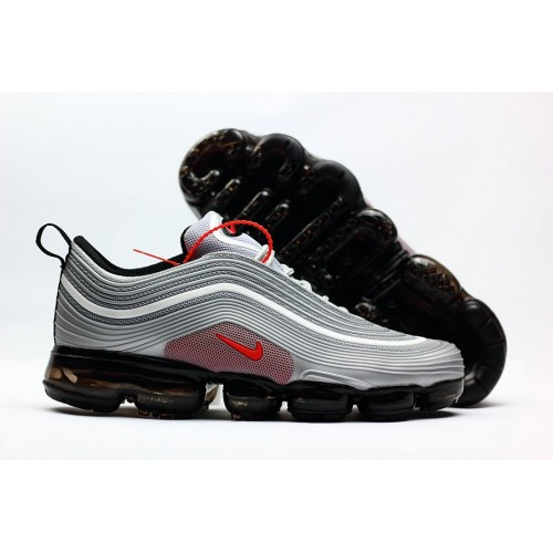 Men's 2018 New Arrival Nike Air VaporMax 97 Grey Red Black