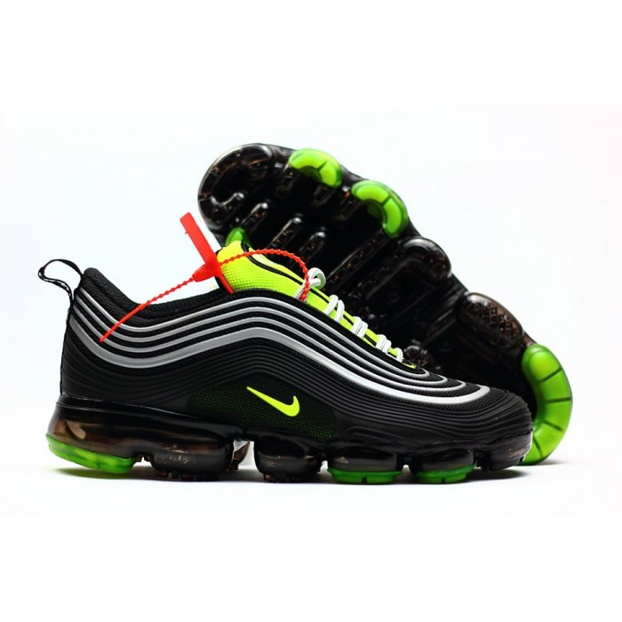 Men's 2018 New Arrival Nike Air VaporMax 97 Silver Black Green