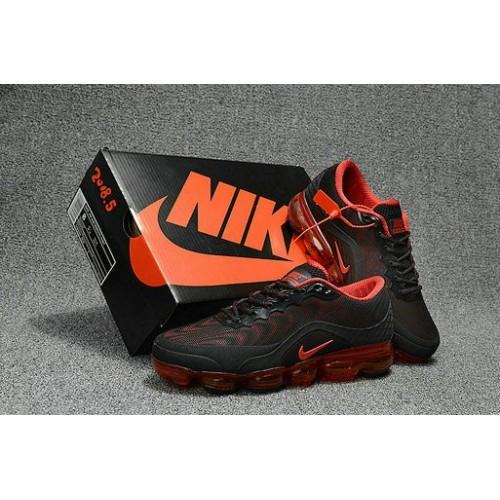 Men's 2018 Nike Air Max Nike VaporMax Black Orange