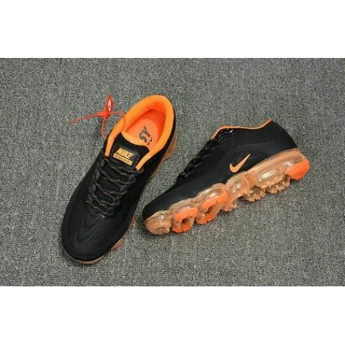 Men's 2018 Nike Air Max Nike VaporMax Orange Black