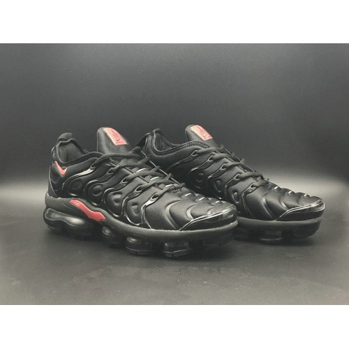 Men's 2018 Nike Lab VaporMax x Nike Vapormax Plus Fire Red Black