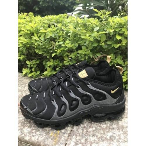 Men's 2019 Nike Air VaporMax Black Grey Gold