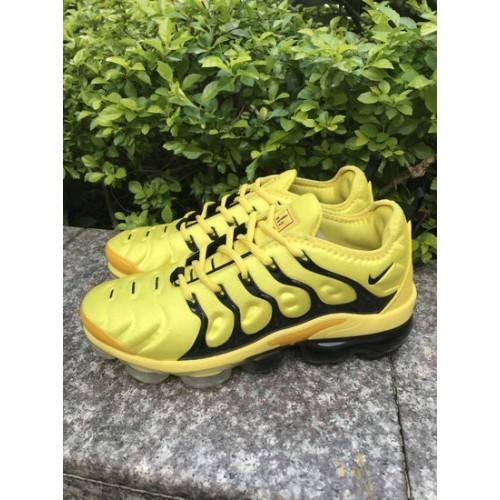 Men's 2019 Nike Air VaporMax Black Yellow Gold