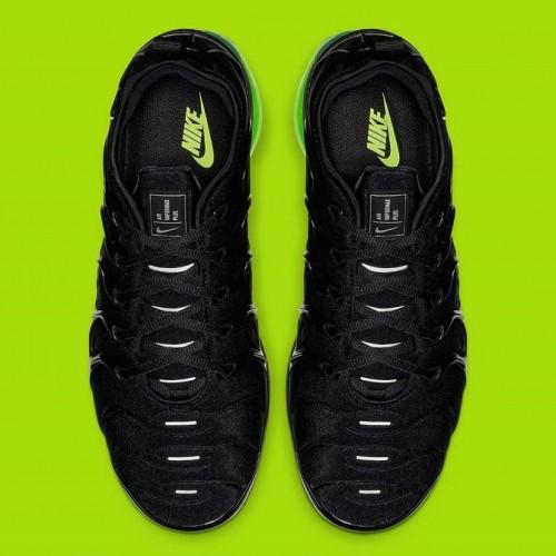 Men's 2019 Nike Air VaporMax Plus Black Reflect Silver-Volt