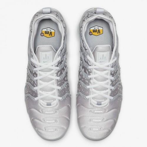 Men's 2019 Nike Air VaporMax Plus Silver White 924453-106