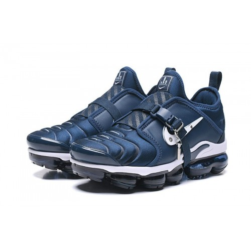 Men's 2019 Nike Air VaporMax Plus TN Navy Blue White