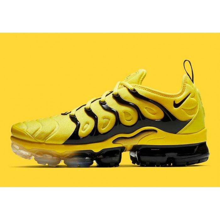 Men's 2019 Nike Air VaporMax Plus Yellow Black BV6079-700