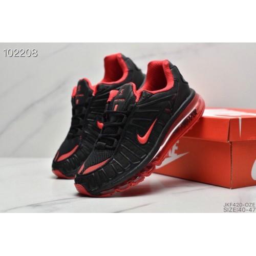 Men's 2019 Nike Air VaporMax Plus Fire Red Black