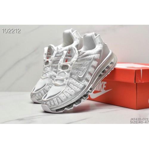 Men's 2019 Nike Air VaporMax Plus Metallic Silver White
