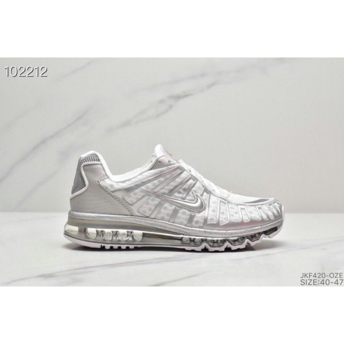 Men's 2019 Nike Air VaporMax Plus Metallic Silver White