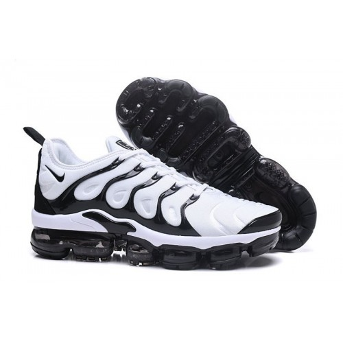 Men's Nike Air VaporMax Plus Black White Trainers For Sale