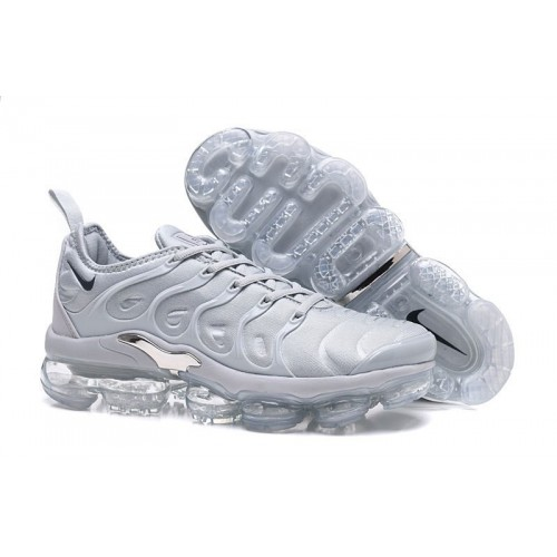 Men's Nike Air VaporMax Plus Wolf Grey Metallic Silver For Sale