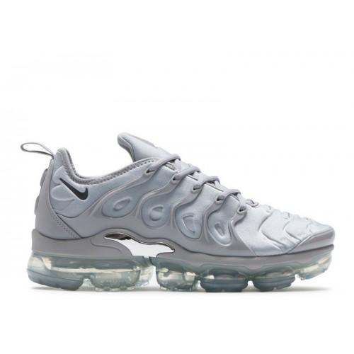 Men's Nike Air Vapormax Plus 924453-005 Wolf Grey Dark Grey Metallic Silver