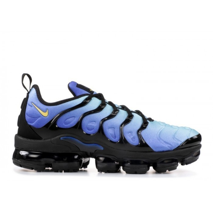Men's Nike Air Vapormax Plus 924453-008 Black Chamois Hyper Blue