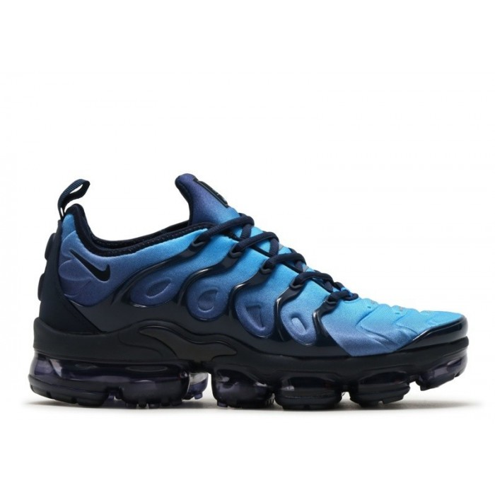 Men's Nike Air Vapormax Plus 924453-401 Obsidian Obsidian Photo Blue Black