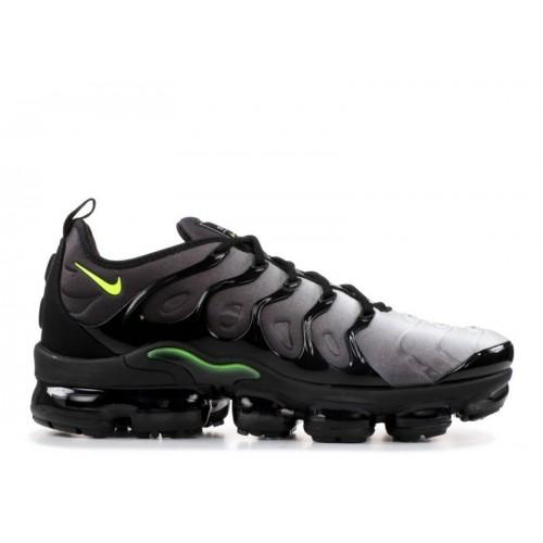 Men's Nike Air Vapormax Plus Neon 95 924453-009 Black Volt White