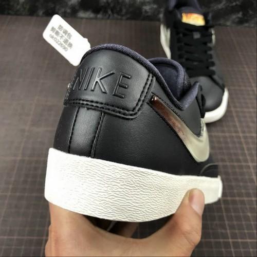 Men's 2019 Nike Blazer Low LX Oil Grey Bright Crimson-Summit White