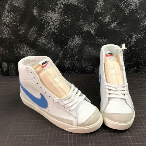 Men's 2019 Nike Blazer Mid 77 Vintage Pacific Blue BQ6806-400
