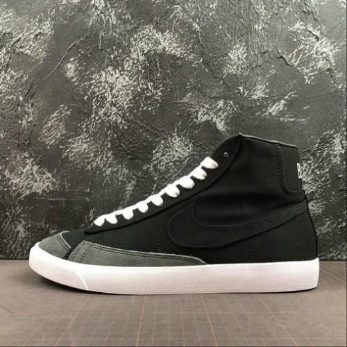 Men's 2019 Nike Blazer Mid Vintage 77 Black White CD8238-001