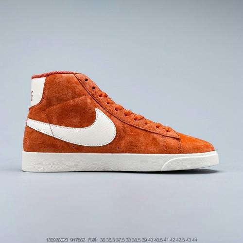 Men's 2019 Nike Blazer Mid 77 Suede Vintage Red White 917862-800