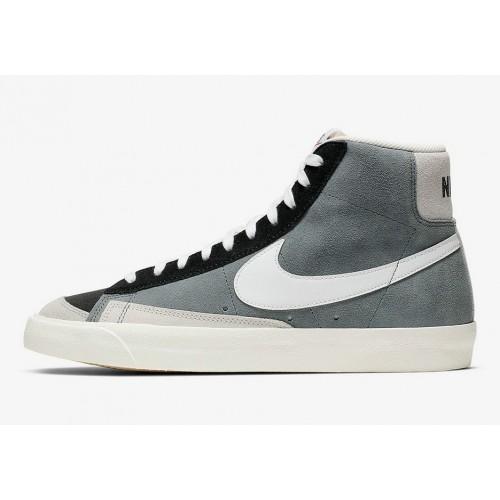Men's 2019 Nike Blazer Mid 77 Vintage Cool Grey Black Summit White