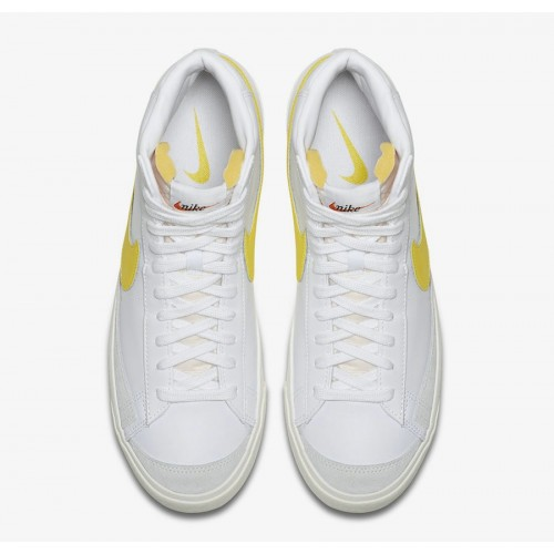 Men's 2019 Nike Blazer Mid 77 Vintage White Opti Yellow BQ6806-101