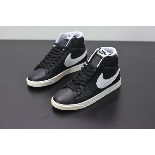 Men's 2019 Nike Blazer Mid Black Suede AV9376-001