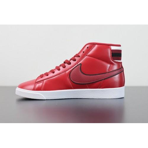 Men's 2019 Nike Blazer Mid PRM Red Crush White Rouge AV9375-109
