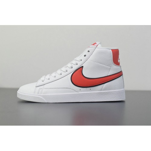 Men's 2019 Nike Blazer Mid QS High Sail Habanero Red