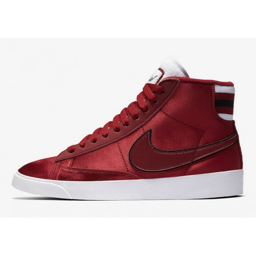 Men's 2019 Nike Blazer Mid Red Crush White-Red Crush