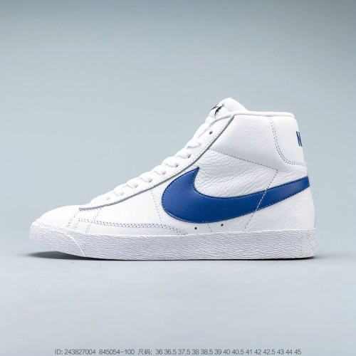 Men's 2019 Nike Blazer Mid Retro White Game Royal blue