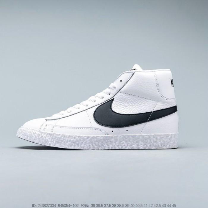 Men's 2019 Nike Blazer Mid Retro White leather black