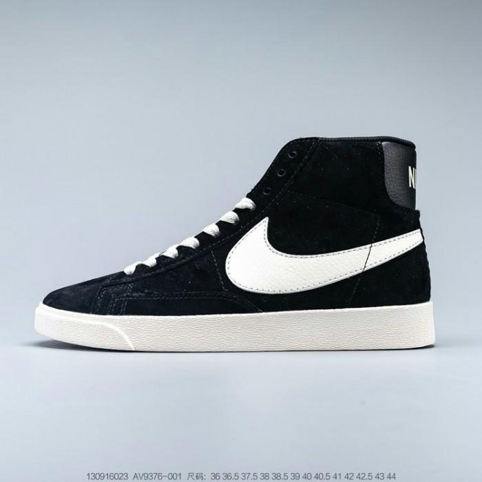 Men's 2019 Nike Blazer Mid Suede Vintage Black White