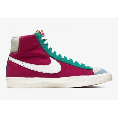 Men's 2019 Nike Blazer Mid Vintage Noble Red Kinetic Green