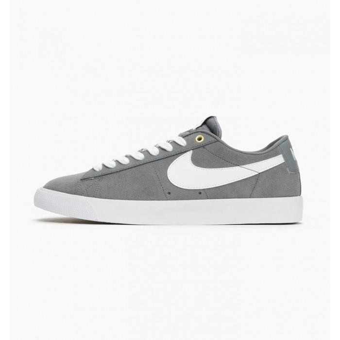 Men's 2019 Nike SB Blazer Low GT Gray White 704939-014