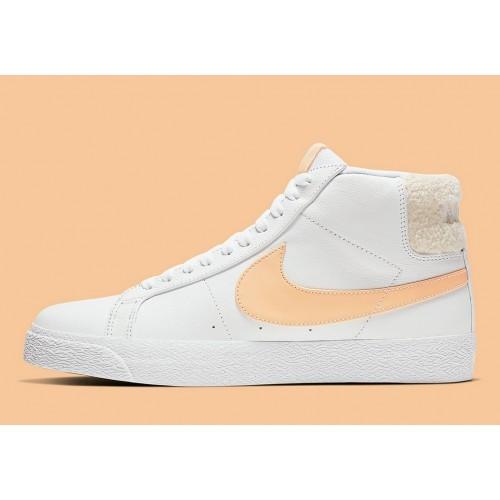 Men's 2019 Nike SB Blazer Mid White Core Gold CJ6983-102