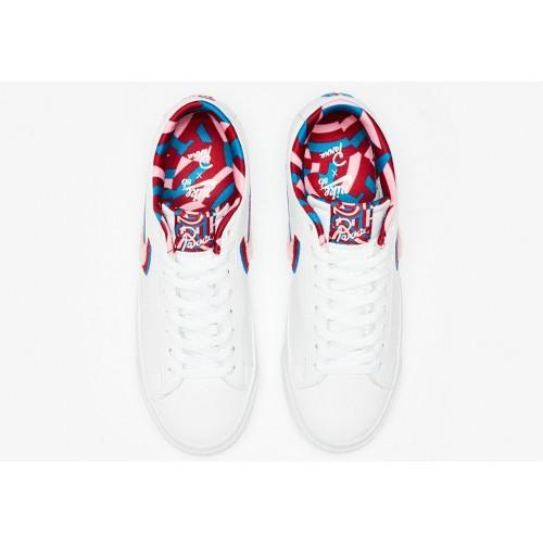Men's 2019 Parra x Nike Blazer Low White CN4507-100