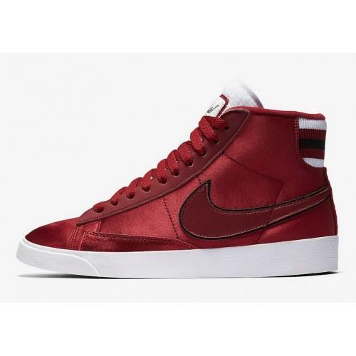Women's Nike Blazer Mid Red Crush White-Red Crush AV9375-605